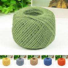 2MM 50M Burlap Natural Fiber Jute Twine Rope Cord String Craft DIY Gift Decor Handycrafts Sewing Supplies