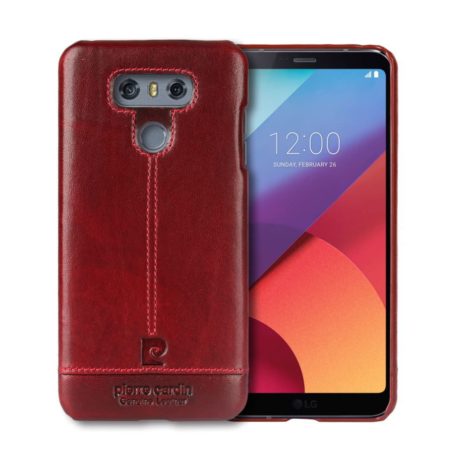 For LG G6 Case Luxury Genuine Leather Hard Slim Cover (22)