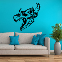 Creative western wall decals stickers wall stickers kiwi star skull(China)