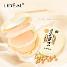 LIDEAL Dual Use Pressed Powder Soymilk Wet And Dry Powder Compact Oil-control Clear Foundation Face Makeup Concealer Moisturizer(China)