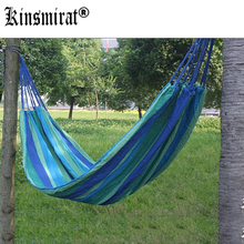 Portable 190 x 80cm Outdoor Hammock Outdoor Sports Sleeping Bag Travel Camping Swing Canvas Stripe Hang Bed