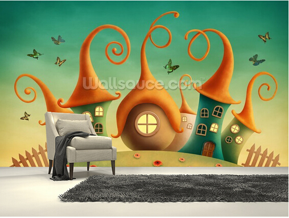 Custom papel de parede infantil.Fantasy House,3D wallpaper murals for childrens room living room sofa background wall wallpaper<br>