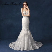 Buy Vintage Lace Mermaid Wedding Dresses 2018 Sexy Low Back Beaded Applique Sweetheart Sweep Train Custom Made Bridal Gowns SW084 for $253.89 in AliExpress store