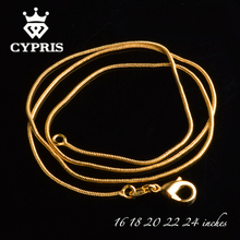 "GOLD C008 16""18""20""22""24"" Cheap Hot 1MM Thin silver Snake Chain Jewelry Findings accessory Stamp 925  2pcs/lot bulk necklace"