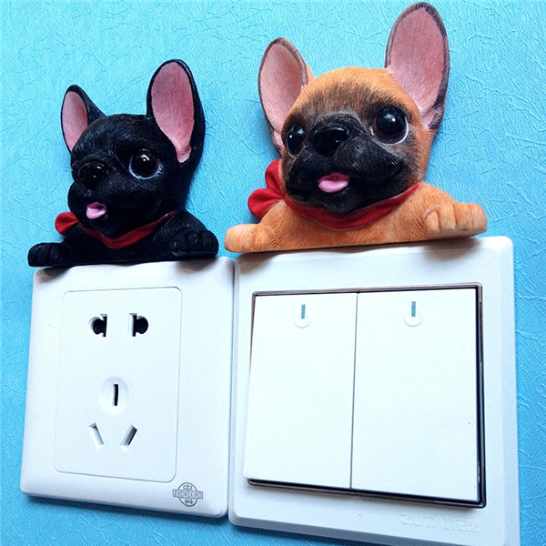 French Bulldog cute puppy dogs resin switch stickers fridge magnets - Buyer's Show 25