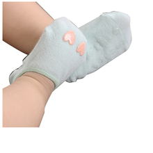 KACAKID Cotton Baby Socks for Girls Boys Cute Heart Anti-slip Infant Newborn Socks Baby Accessories 1 Pair Mint Green S