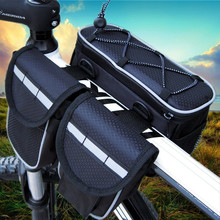 Bicycle manufacturers supply Four tube bag mountain front bag on unity Bike ride my stuff with cover(China)