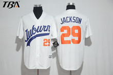 2017 New Stitched Mens #29 BO JACKSON Baseball Jersey #28 Bo Jackson Chicks Moive jerseys White S-3XL Free Shipping(China)