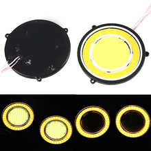 1 Pair Universal Truck Car Round COB LED Angel Eyes DRL Driving Light Daytime Running Lights Fog Lamp Fog Light Auto Accessories