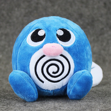 "10pcs/lot 5"" 12cm Japan Plush Toy Poliwag Poliwhirl Plush Anime New Rare Soft Stuffed Animal Doll For Kid"
