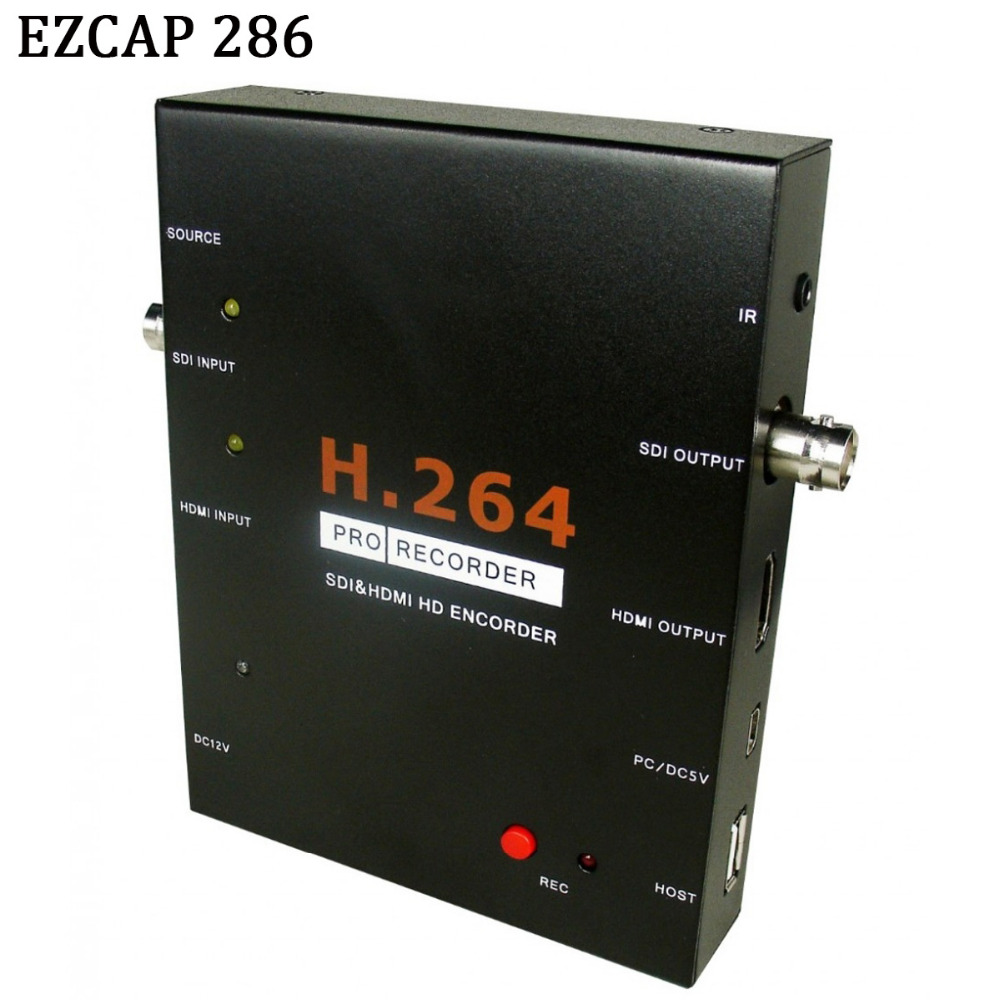 EZCAP 286 1080P HD SDI HDMI Video Game Capture Video Card Recorder Box Support USB Flash Disk HDD SD Card No Need PC/Computer(China (Mainland))