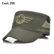 Men Baseball Caps 5 Star Embroidered Logo Flat Top Hats Cotton Snapback Flat Cap Army Cadet Hat Women Gorros Hombre Hip Hop