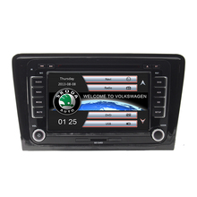 Free Shipping 7 inch Car DVD Player GPS Navigation System for Skoda Rapid 2013 2014 2015 Bluetooth Radio RDS Ipod USB Free map