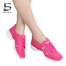 2017 Hot Sale Soft Sole Dancing Sneaker Air Mesh Breathable Modern Dance Shoes Woman Ballroom /Jazz Dance Shoes Gym Sneaker 712