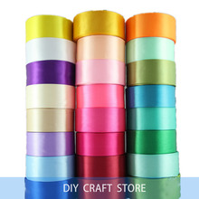 1-1/2'' 40MM Cheap Silk Satin Ribbon For Wedding Party Decoration Invitation Card Gift Wrapping 22Meters(China)