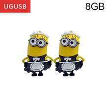 Promotion! Cute Maid Cartoon Minion PVC Usb flash drive Pen drive Usb memory stick pendrive Usb disk 1GB 2GB 4GB 8GB 16GB 32GB(China)