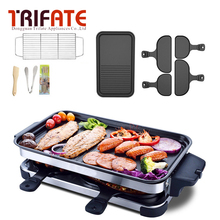 1600W Large Capacity Double Layers Smokeless Electric Pan Grill BBQ Grill Electric Raclette Grill Electric Griddle