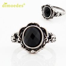 Rings Diomedes Gussy Life wholesale Women Ladies Fashion carved Vintage Imitate Black Onyx Ring Jewelry Jan31
