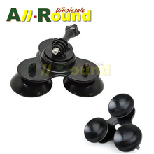 Black Super Suction Cup Mount Low Angle Secure Car Vehicle 3 Vacuum Bases for GoPro HD HERO2/3/3+/4