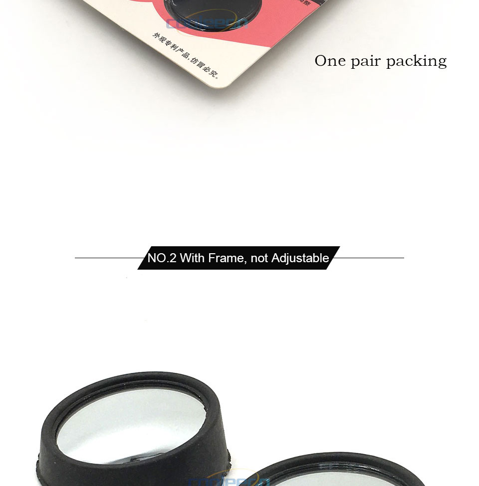 HD Car Blind Spot Mirror 360 Degree Adjustable Wide Angle Horizon Round Convex Auto Side Mirror Vehicle Rearview Safe Driving (4)