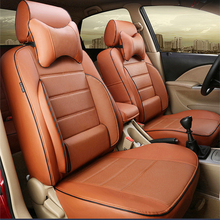 PU leather seat covers for Lincoln mkx car seat cover for cars seat cushion set support cover auto accessories protector styling