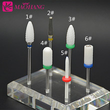 "MAOHANG 1pcs hot Ceramic Nail Drill Bit Pedicure Machine Remove nail Calluses Bit Tools ElectricDrill 3/32"" Shank Nail Tools(China)"