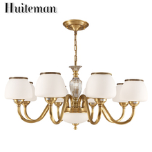 Huiteman Contemporary Chandeliers Shades 6 Light Living Room Kitchens For Foyer Chandeliers Hotel Fashion Atmosphere Gold Lamp