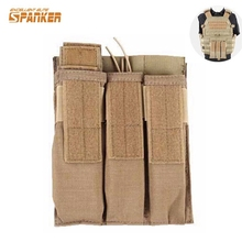 Convertible KRISS MP7 UMP Triple Magazine Pouch Military Tactical Combat Airsoft Triple Molle MP7 Kriss Portable Magazine Pouch(China)