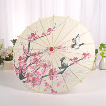 Paper-Umbrella Parasol Chinese-Style Blossom Classical Gift Plum Cosplay Oiled Handmade