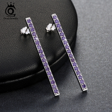 ORSA JEWELS Latest Design Earring Stud made of Micro Paved AAA Cubic Zirconia  Jewelry for Women and Girls OE129