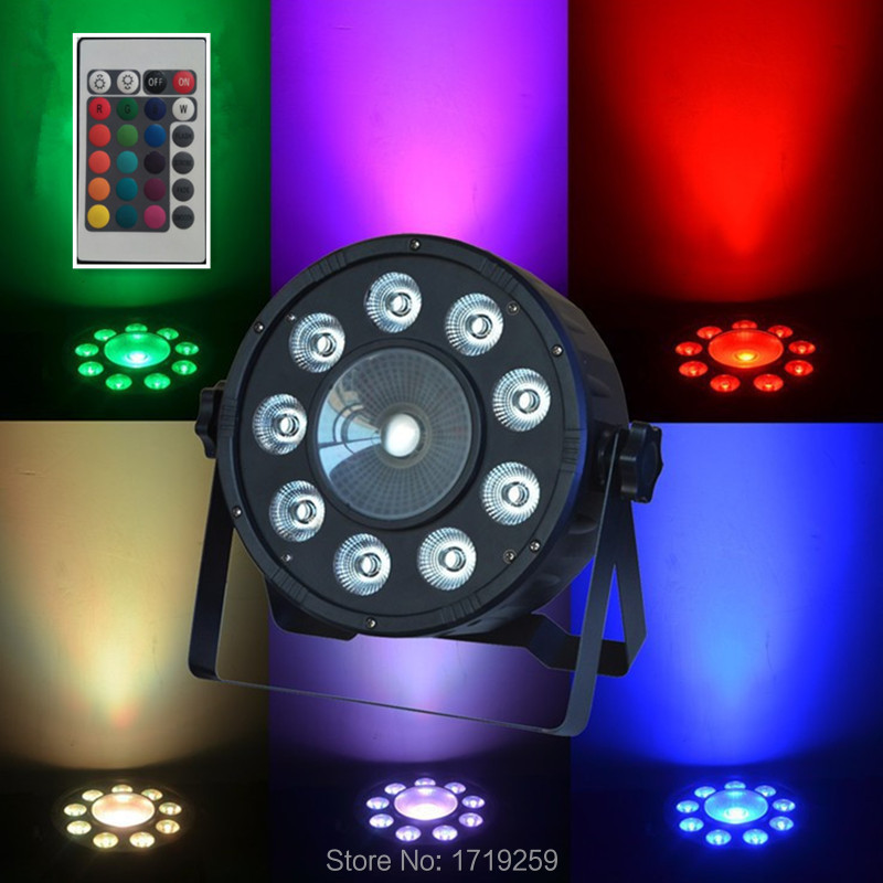 10pcs/lot Wireless Remote Control LED The brightest 7 DMX Channels Led Flat Par 9X10W +30W RGB 3IN1 Fast Shipping<br><br>Aliexpress