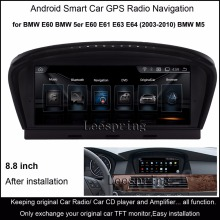 "8.8""Android 4.4 Intelligent Car multimedia Player for BMW 5 series E60 E61 E63 E64(2003-2010) BMW M5 GPS Navigation WiFi"