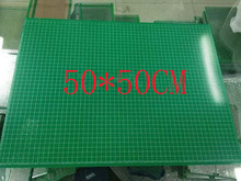 free shipping 2pc 50*50CM single sided pcb HASL 1.6MM thick 2.54 pitch universal board pcb Fr4 from pcb manufactur(China)