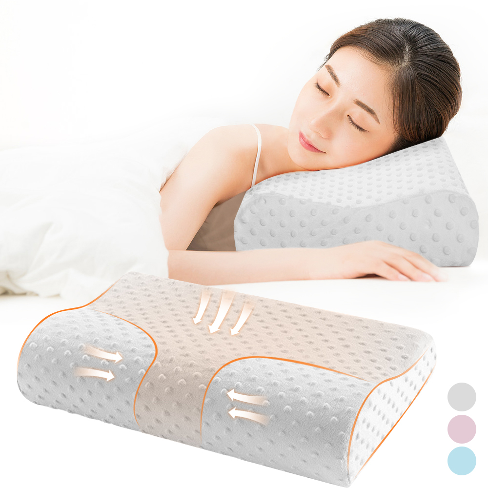 Soft Bamboo Memory Foam Rebound Contour Cervical Neck Sleep Care Travel Pillow