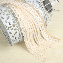 10yard/lot Cotton Lace Trim Clothing Decorative Ribbon Home DIY Sewing Wedding Crafts Decoration hand made lace
