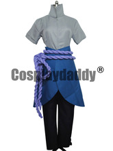 Naruto Cosplay Uchiha Sasuke Halloween Set Costume(China)