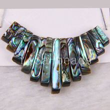 Fashion Jewelry Natural Blue New Zealand Abalone Shell Pendant Beads Group 13Pcs K240
