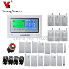 YobangSecurity Wireless Wired GSM Alarm System Touch keypad Display Security System Pir Motion Smoke Detector Door Window Sensor(China)