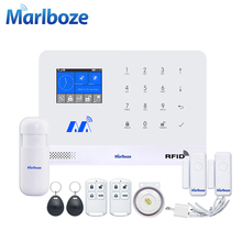 Marlboze Wireless Home Security GSM WIFI GPRS Alarm System IOS Android APP Remote Control RFID Card PIR Sensor Door Sensor kit(China)