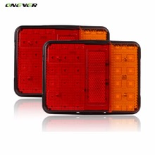 2PCS Waterproof 30 LED Taillights Red Amber Rear Tail Light DC 12V for Trailer Truck Boat Car Styling Warning Turn Signal Lights