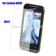 Screen Guard Protectors for Lenovo A660 Film Quality 3pcs in one package Front Anti-Glare(China)