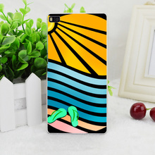 A3398 Sun Sea Sand And Sandals  Transparent Hard Thin Skin Case Cover For Huawei P 6 7 8 9 Lite Plus Honor 6 7 4C 4X G7