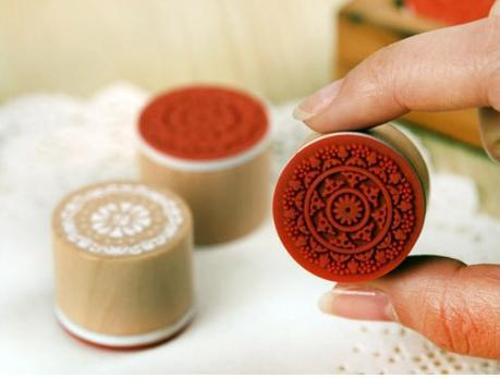 (24 Styles choose) DIY Scrapbooking Lace Stamps Vintage Flower Wood Rubber Craft Ink Pad Stamp Wax Seal Stamp<br><br>Aliexpress