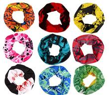 EXPRESS Shipping Wholesale 100pcs/lot New Patterns Magic Headband Tube Cycling Multifunctional Bandana For Outdoor Sports Scarf