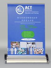 Free Shipping Retractable Table Top Banner Stand with A3 Size Pull Up Banner(China)