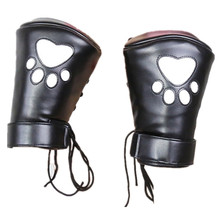 Buy High Quality Leather Premium Puppy Play Restraint Glove Sex Bondage Restraints Paw Fetish Slave Gloves Adult Games Sex Toys