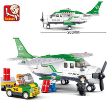 Compatible Lego Plane Aviation Aircrew Model Aircraft Building Block Set Construction DIY Bricks Christmas Gifts Toys 0362(China)
