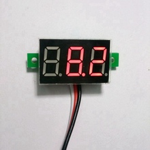 1PCS DC 0-100V Red LED digital voltmeter car motor motorcycle battery monitor dc volt voltage panel meter(China)