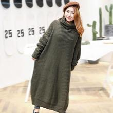 Buy Plus Size Knitted Sweater Dress Winter Autumn Women Maxi Dress Knitting Turtleneck Warm Dress Long Ladies Big Clothes Casual 6xl for $33.94 in AliExpress store