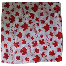 Free Shipping 2017 New Fashionable Women Mens Cotton Red White Canada Maple Leaf Bandanas